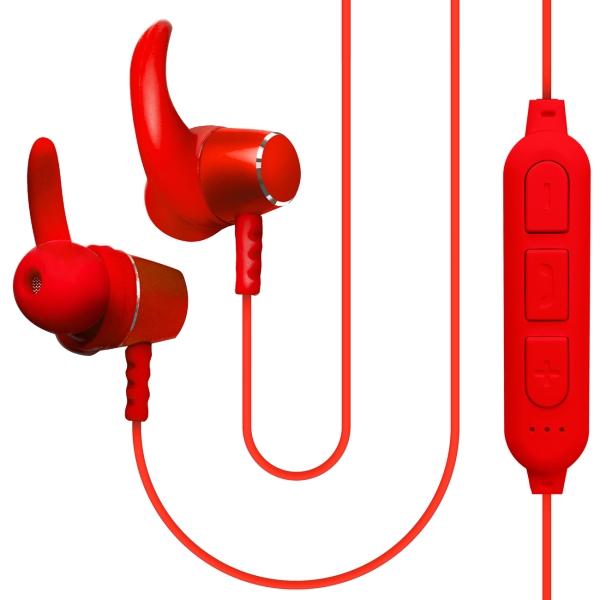 Спортивные наушники Bluetooth QUB STN-180 Red