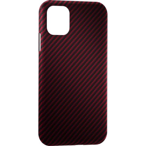 Чехол LYAMBDA ANNET MANCINI Сarbon iPhone 11 Red Matte