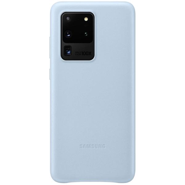 Чехол Samsung — Leather Cover для Galaxy S20 Ultra, Sky Blue