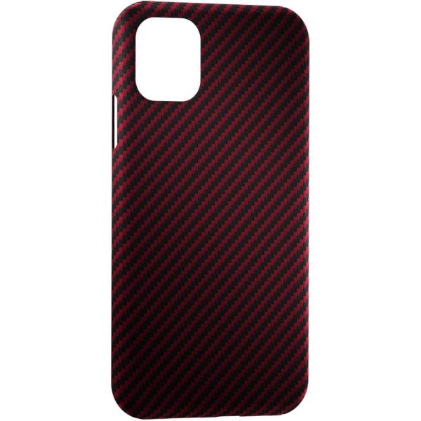 Чехол LYAMBDA ANNET MANCINI Сarbon iPhone 11 Pro Red Matte