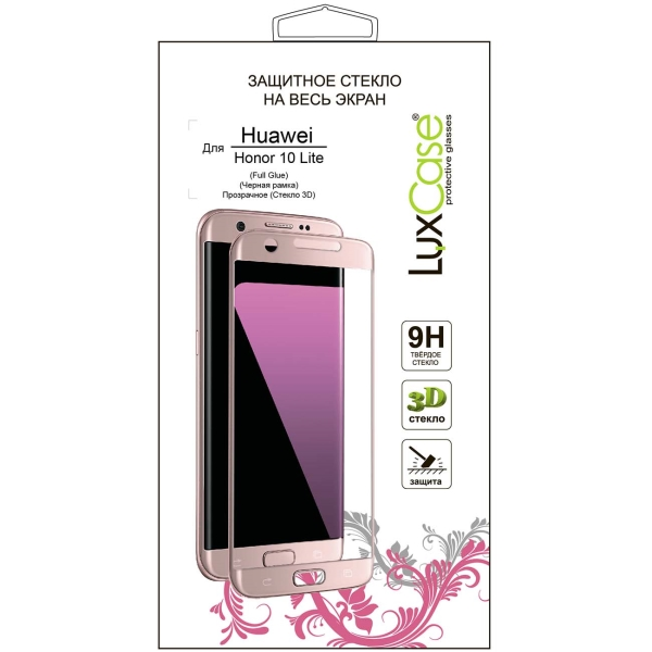 Защитное стекло LuxCase 3D для Honor 10 Lite Black фото
