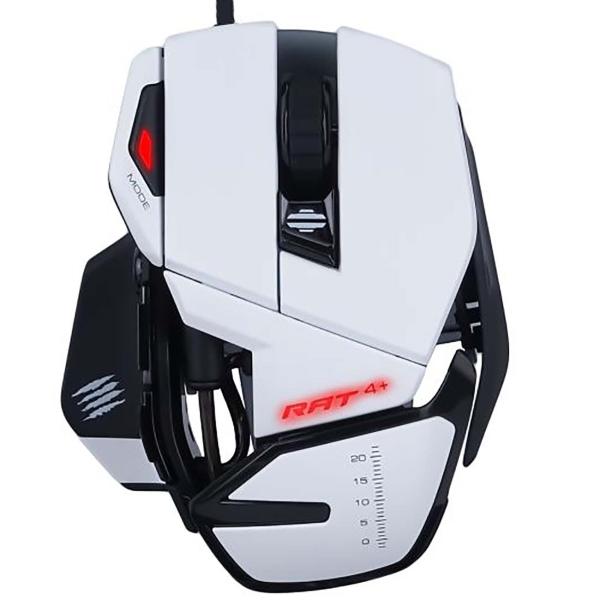 Игровая мышь Mad Catz R.A.T. 4+ White красный