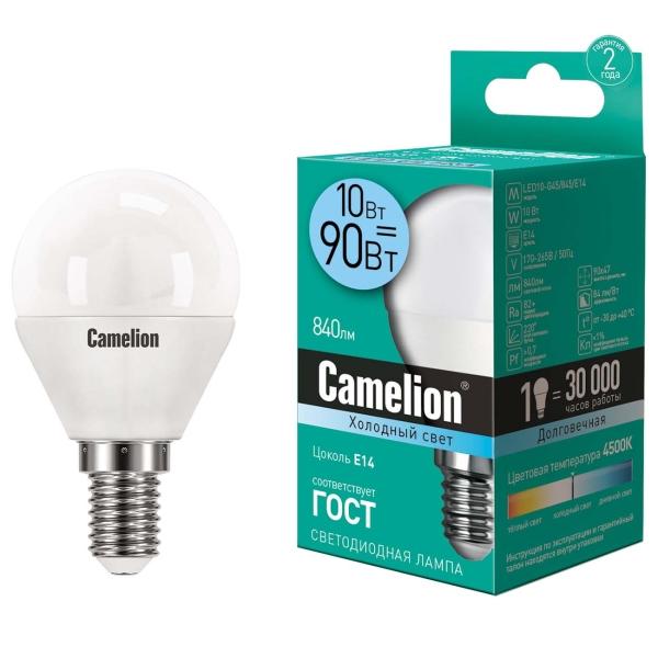 Лампа LED Camelion LED10-G45/845/E14