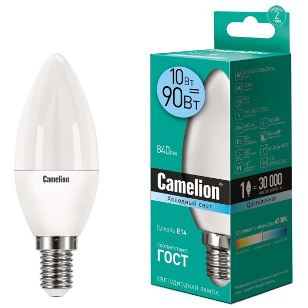 Лампа LED Camelion LED10-C35/845/E14