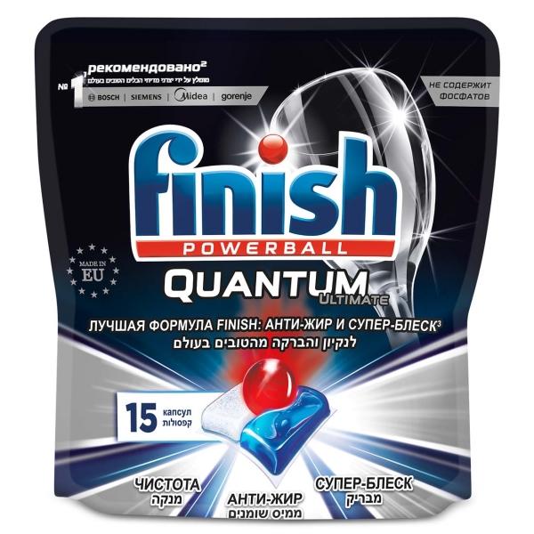 Моющее средство для посудомоечной машины Finish Quantum Ultimate 15 капсул