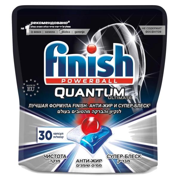 Моющее средство для посудомоечной машины Finish Quantum Ultimate 30 капсул