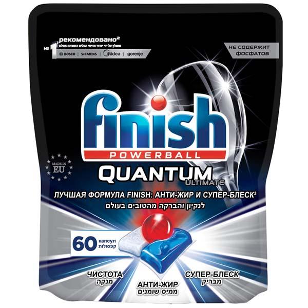 Моющее средство для посудомоечной машины Finish Quantum Ultimate 60 капсул фото