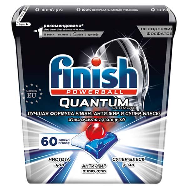 Моющее средство для посудомоечной машины Finish Quantum Ultimate 60 капсул