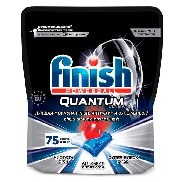 Моющее средство для посудомоечной машины Finish Quantum Ultimate 75 капсул фото