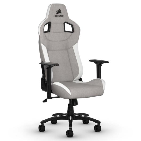 Кресло компьютерное игровое Corsair GamingT3 Rush Gray/White (CF-9010030-WW)