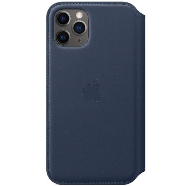 Чехол Apple iPhone 11 Pro Leather Folio Deep Sea Blue фото