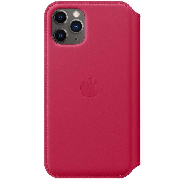 Чехол Apple iPhone 11 Pro Max Leather Folio Raspberry фото