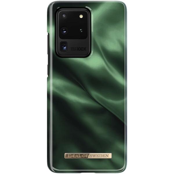 Чехол iDeal Of Sweden Galaxy S20 Ultra Emerald Satin IDFCAW19-S11P-154 зеленый/черный