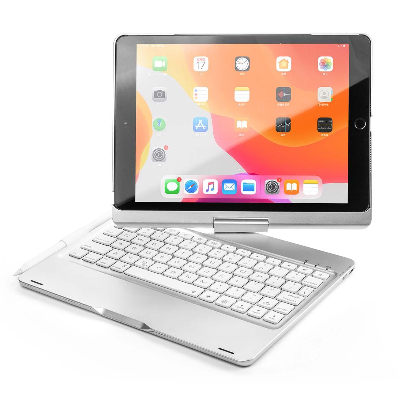 Чехол для iPad Barn&Hollis — для iPad 10.2 (2019) с клавиатурой, серебристый