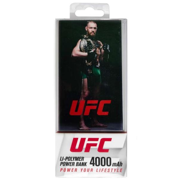 Внешний аккумулятор Red Line, J01 UFC 4000mAh Metal, Silver №6 (УТ000019301), серебряный  - купить со скидкой