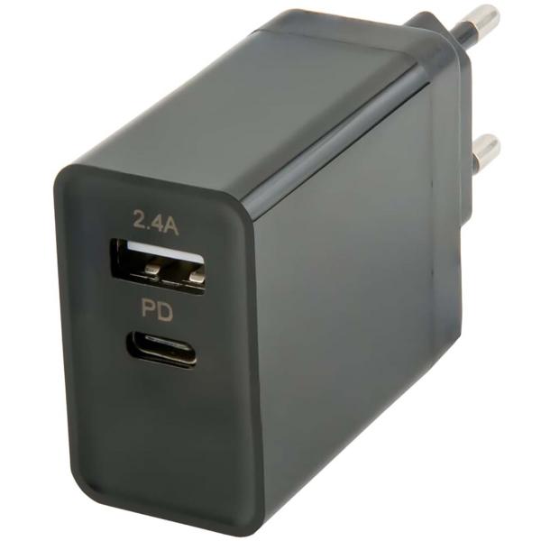 Картинка для Сетевое зарядное устройство с кабелем Red Line