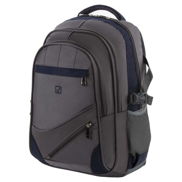 Рюкзак для ноутбука Brauberg серый/синий