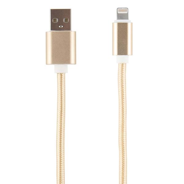Кабель для iPod, iPhone, iPad Red Line USB - 8-pin нейлон, золотой