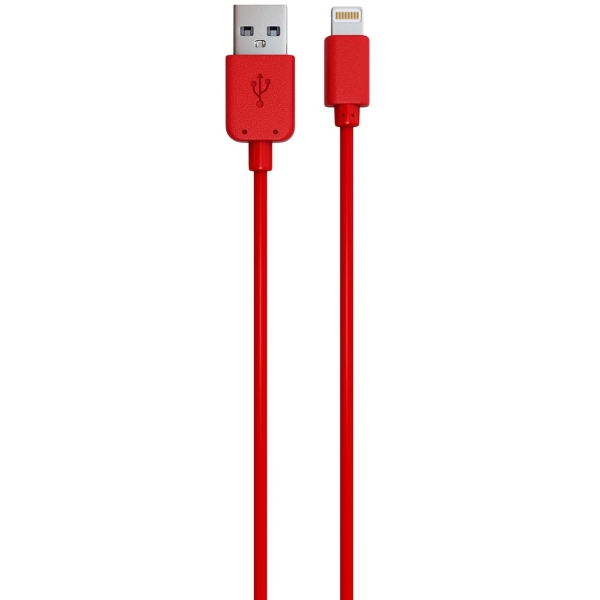 Кабель для iPod, iPhone, iPad Red Line USB - 8-pin красный