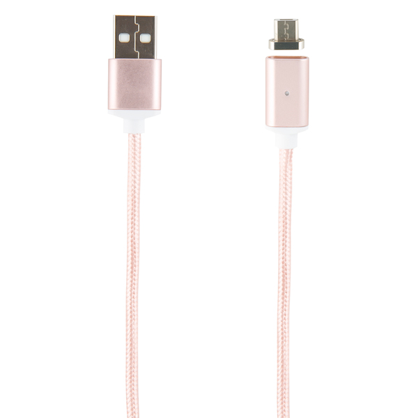 Кабель для смартфона Red Line — USB - micro USB, нейлон, розовый