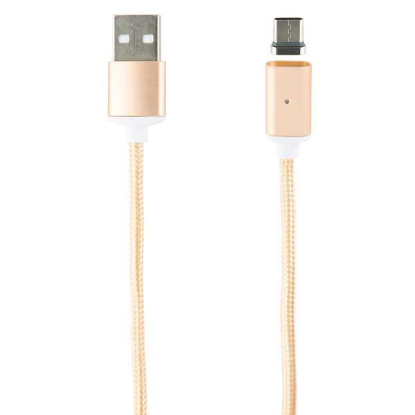 Кабель USB Type-C Red Line USB - Type-C, нейлон, золотой фото