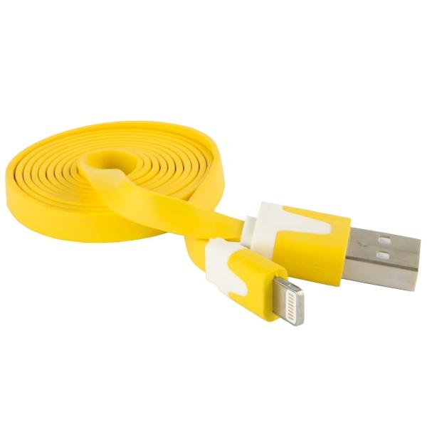 Кабель для iPod, iPhone, iPad Red Line USB - 8-pin, плоский, желтый