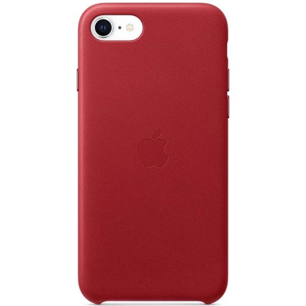 кожаный чехол apple leather case для iphone 8 7 цвет product red красный mqha2zm a Чехол Apple iPhone SE 2020/7/8 Leather Case RED