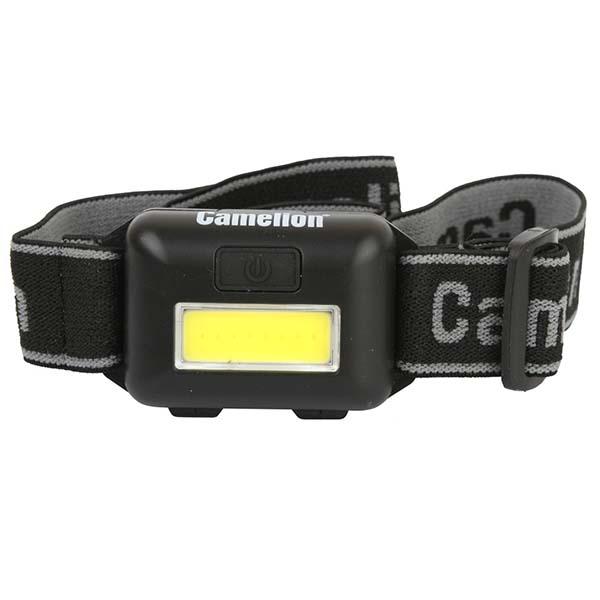 Фонарь бытовой Camelion LED5355 налобный черный