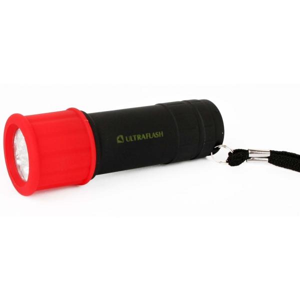 Фонарь бытовой Ultraflash LED15001-A светофор красный/черный