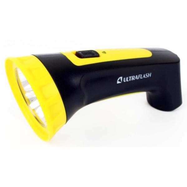 Фонарь бытовой Ultraflash — LED3804M черный/желтый