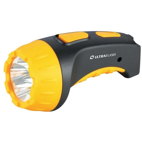 Фонарь бытовой Ultraflash — LED3804 черный/желтый