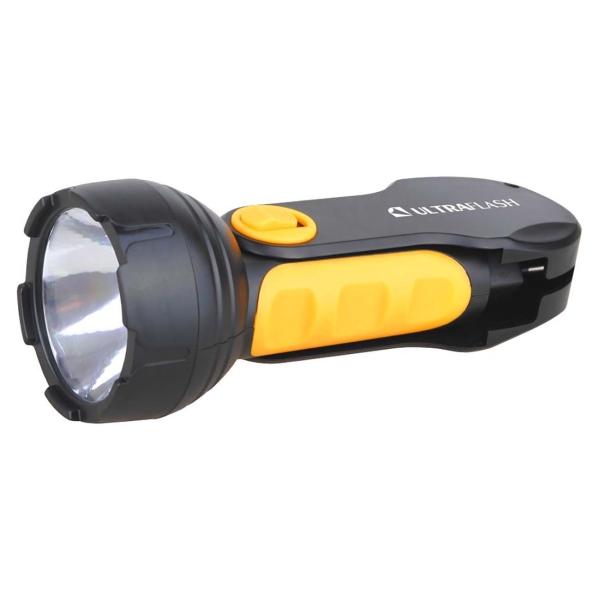 Фонарь бытовой Ultraflash — LED3828 черный/желтый