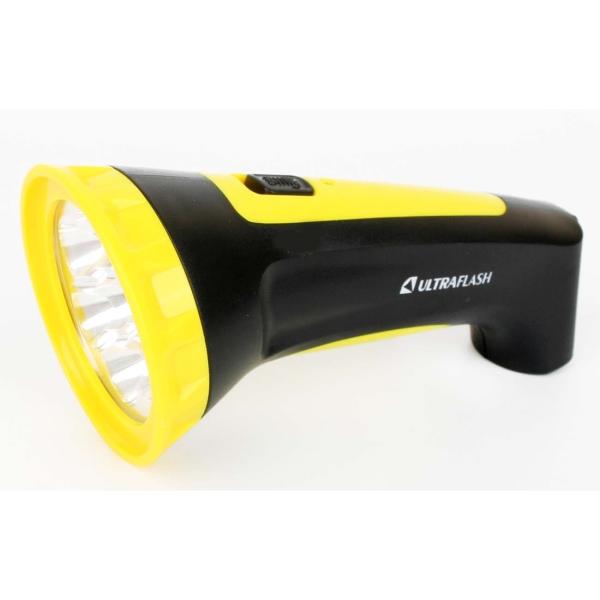 Фонарь бытовой Ultraflash — LED3807M черный/желтый