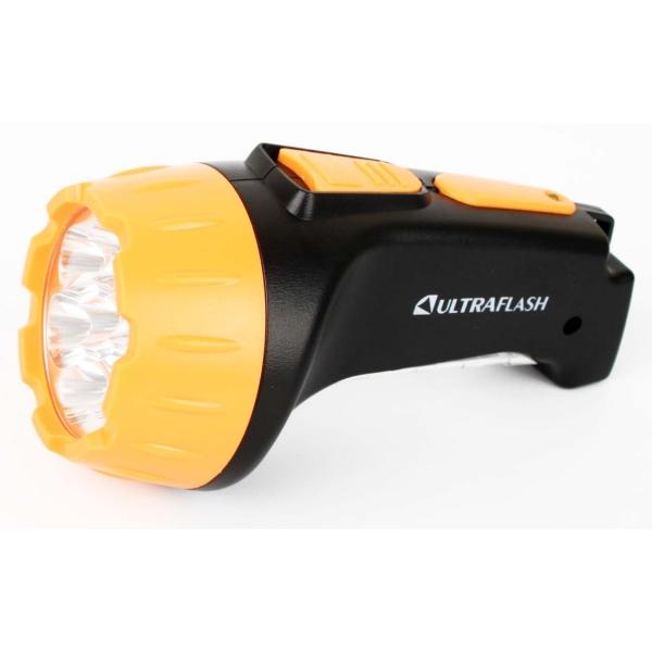 Фонарь бытовой Ultraflash — LED3818 черный/желтый