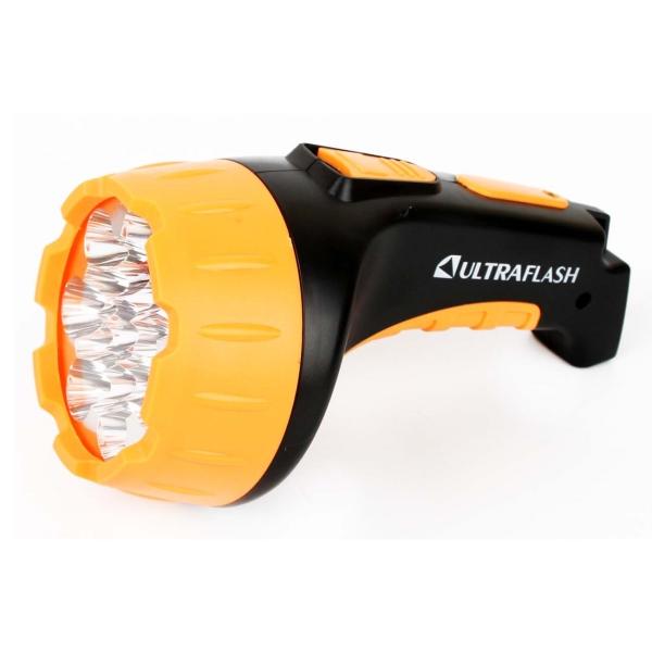 Фонарь бытовой Ultraflash — LED3815 черный/желтый