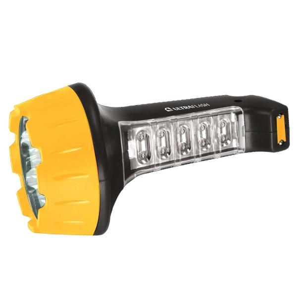 Фонарь бытовой Ultraflash — LED3819 черный/желтый
