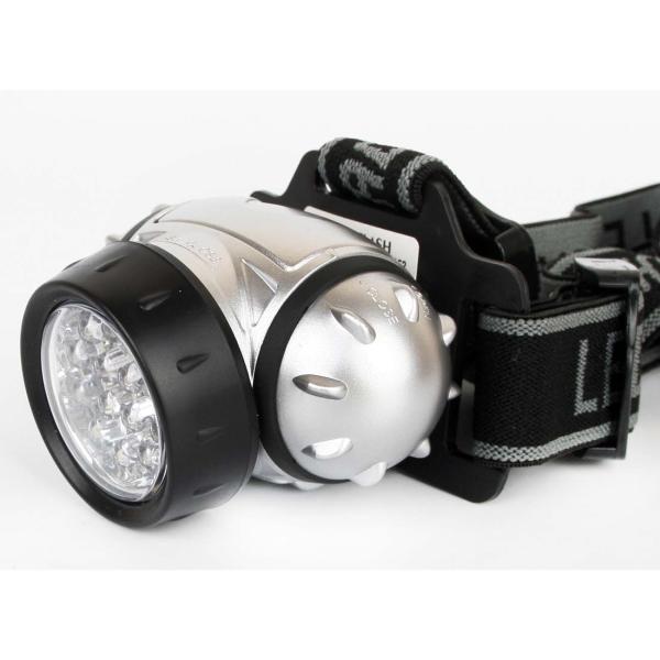 Фонарь бытовой Ultraflash — LED5352 налобный металлик