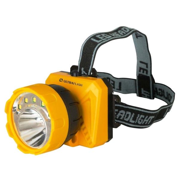 Фонарь бытовой Ultraflash LED5372 налобный желтый/черный