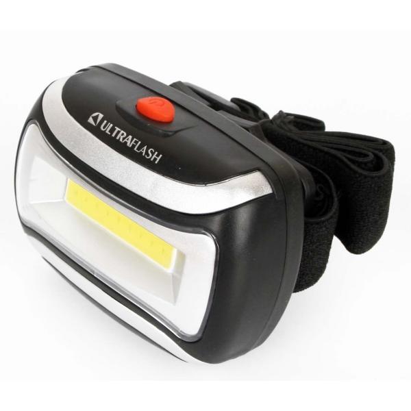 Фонарь бытовой Ultraflash — LED5380 налобный черный