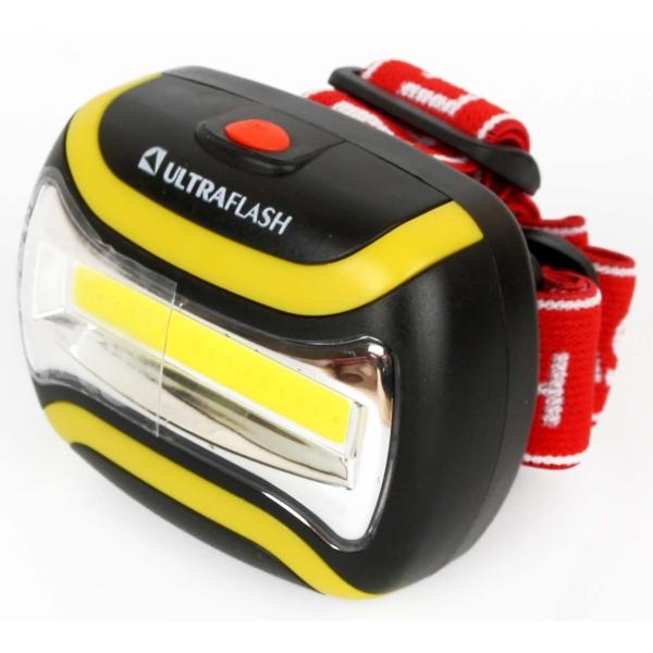 Фонарь бытовой Ultraflash LED5358 налобный черный