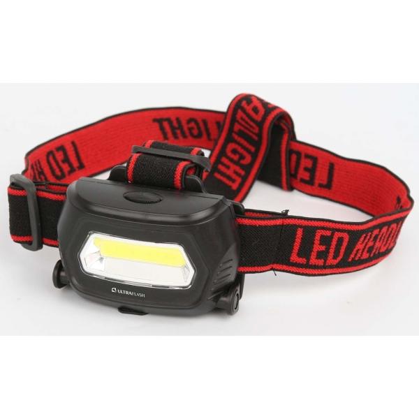 Фонарь бытовой Ultraflash — LED5359 налобный черный