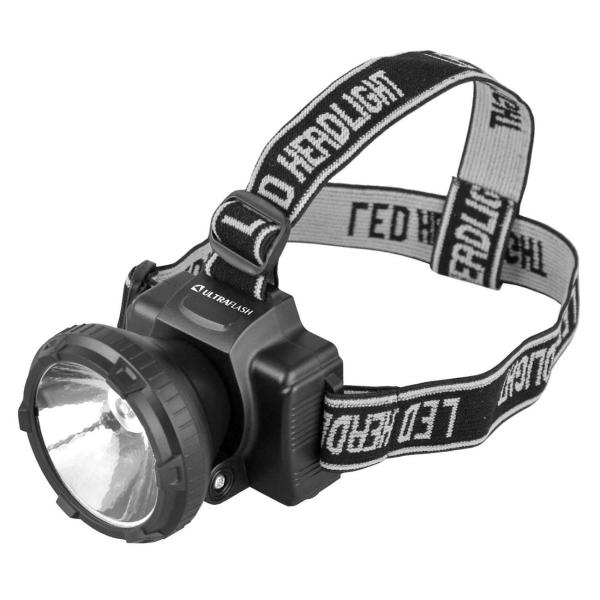 Фонарь бытовой Ultraflash — LED5364 налобный черный