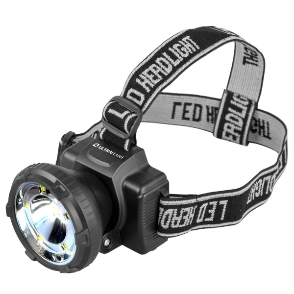 Фонарь бытовой Ultraflash — LED5367 налобный черный