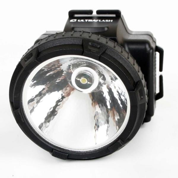 Фонарь бытовой Ultraflash — LED5366 налобный черный