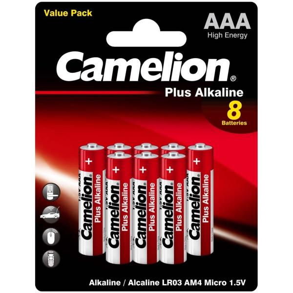Батарея Camelion LR03 Plus Alkaline BL-8