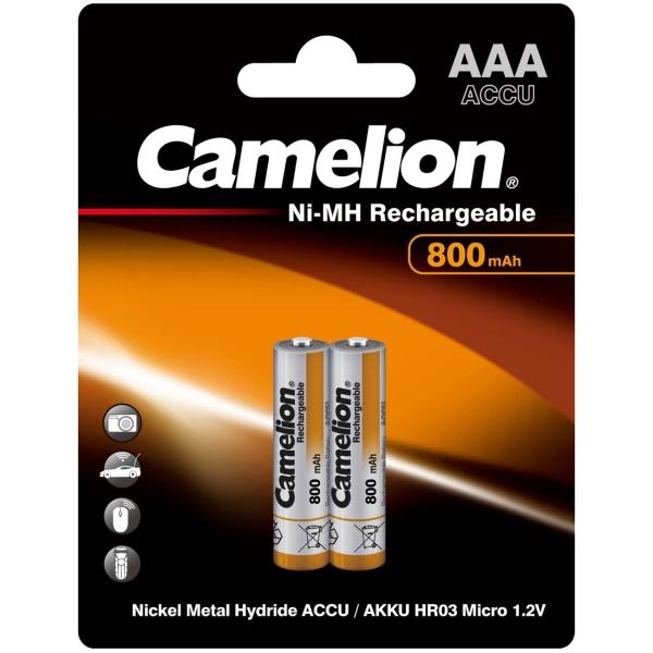 Аккумулятор Camelion AAA 800mAh Ni-Mh BL-2