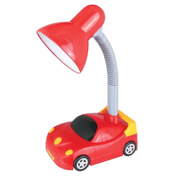 Светильник Camelion KD-383 C04 Машинка настольный красный