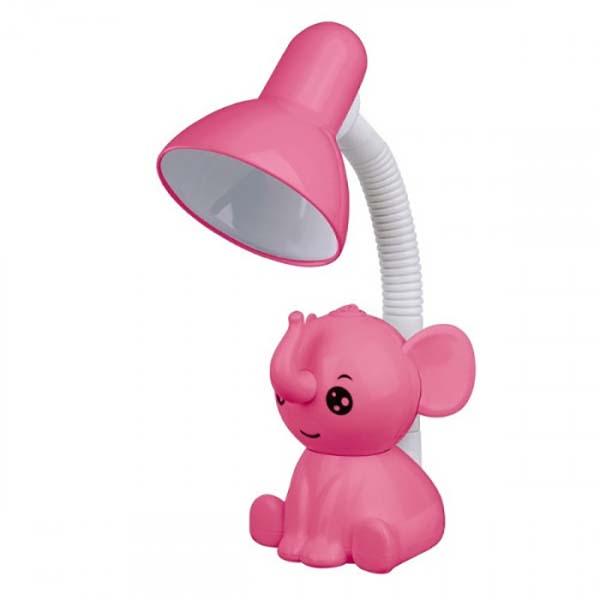 Светильник Camelion KD-397 C14 Слоник настольный розовый