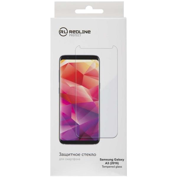 Защитное стекло для Samsung Red Line для Galaxy A3 (2016), tempered glass прозрачный