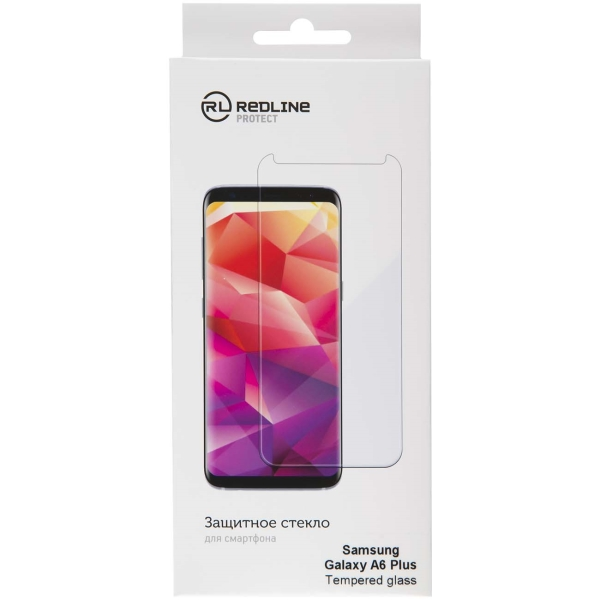 Защитное стекло для Samsung Red Line для Samsung Galaxy A6 Plus, tempered glass